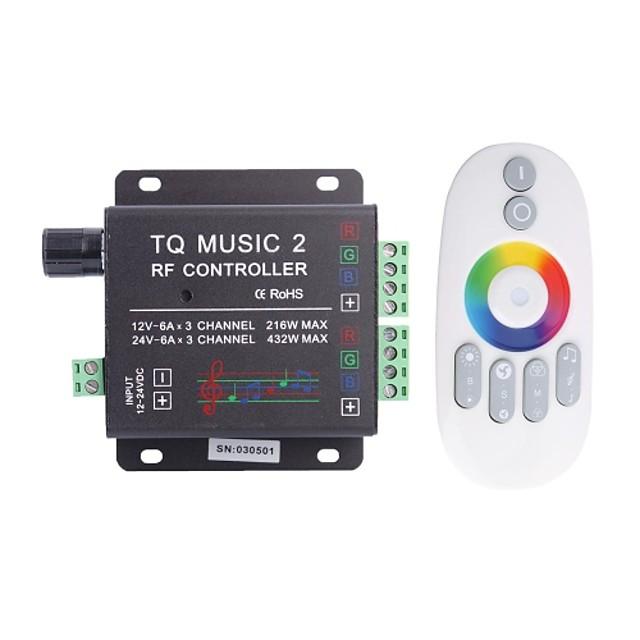 6а 3-канальный ткв ВЧ музыка RGB LED звуковой контроллер с многофункционального пульта дистанционного управления для RGB светодиодные ленты лампы (DC