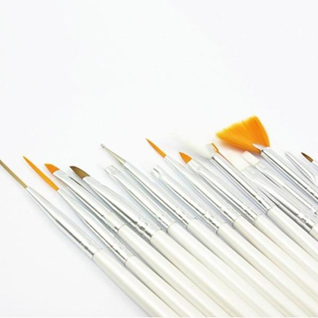 Păr sintetic Lemn Instrumente de manichiură pentru unghii Clasic Zilnic Unelte pentru unghii Perie acrilă pentru unghii Perii de unghii pentru Pensulă Acrilic