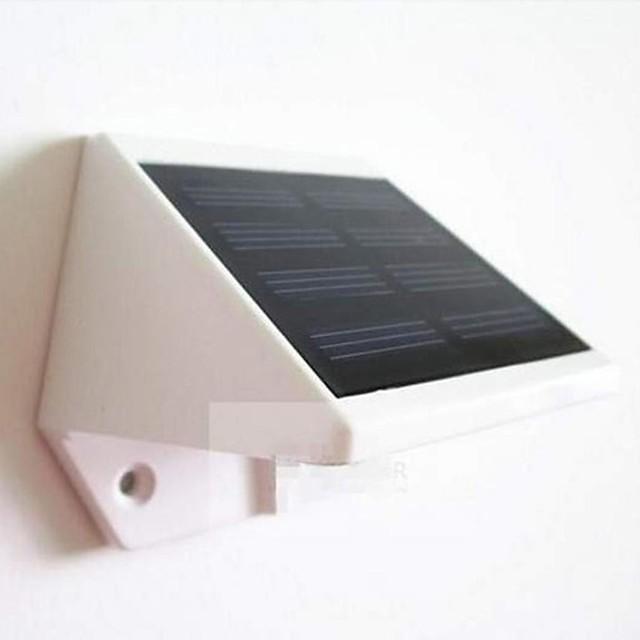 mlsled® 0.6W 4-a condus alb mini impermeabil energie solară gard / perete / lampă de grădină - alb