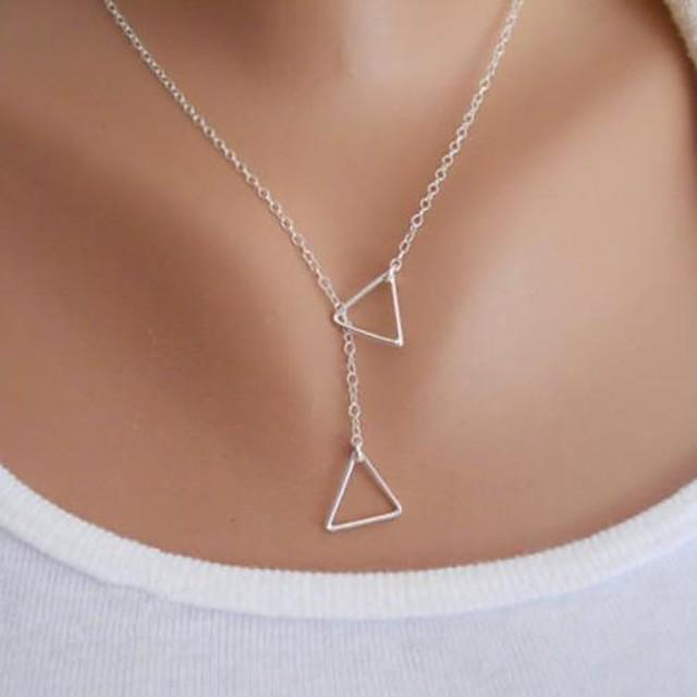 Pentru femei Coliere cu Pandativ Y Colier Arcan Plutire Origami femei Simplu De Bază stil minimalist Aliaj Auriu Argintiu Coliere Bijuterii Pentru Petrecere Zi de Naștere Felicitări Cadou Zilnic