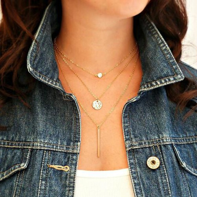 Perle Coliere cu Pandativ Κολιέ με Πέρλες femei European Perle Aliaj Auriu Coliere Bijuterii 1 buc Pentru Petrecere Zilnic Casual