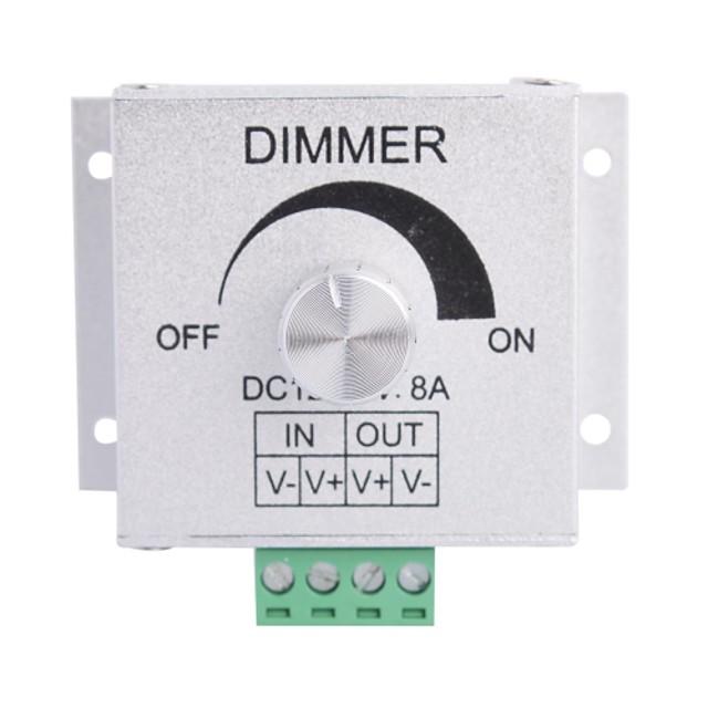 aliaj de aluminiu 8a 1-canal rotativ Dimmer pentru lampă benzi condus (dc 12v-24v)