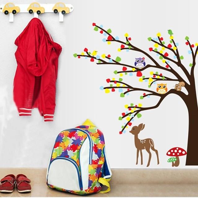Autocolante de Perete Decorative - Animal Stickers de perete Animale Cameră de Băieți / Cameră de Fete / Lavabil / Detașabil
