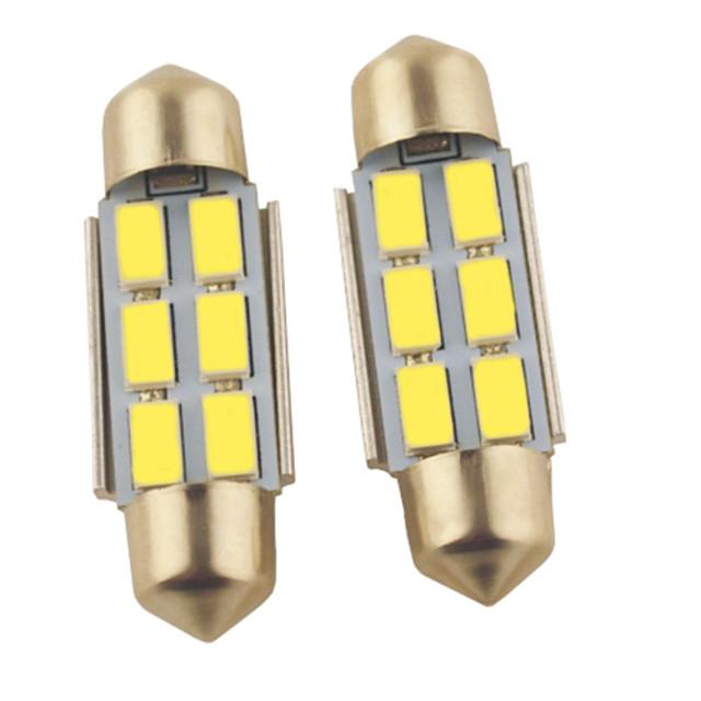 2pcs Double Claw Mașină Becuri 1.2 W SMD 5630 140 lm 6 LED Lumini de interior Pentru
