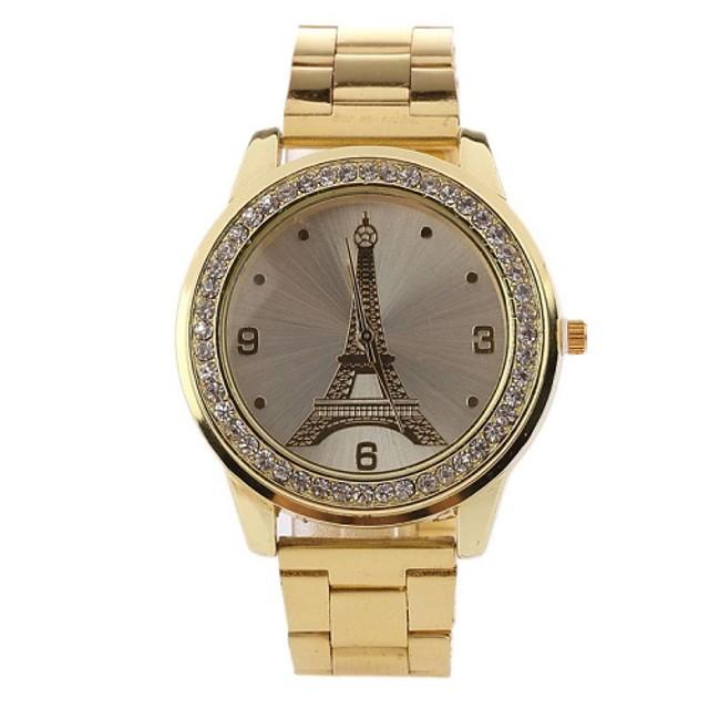 Pentru femei Diamond Watch Quartz Oțel inoxidabil Auriu Cool Analog femei Vintage