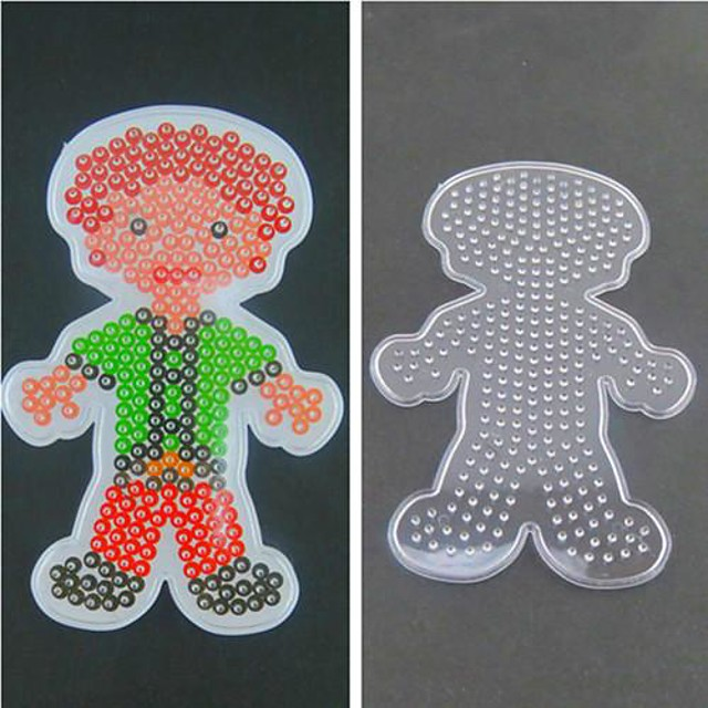 1PCS Template Clear Fuse Beads Pegboard Man Father Papa Pattern for 5mm Hama Beads DIY Jigsaw