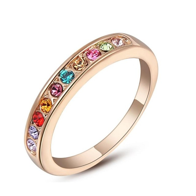 Pentru femei Band Ring Cristal Cristal Placat Auriu Modă Nuntă Petrecere Bijuterii / Zirconiu Cubic