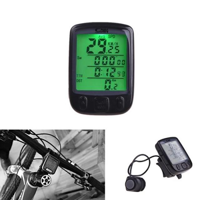 Bisiklet Bilgisayarı Su Geçirmez Kablosuz Lastik Çevresini Ayarlama Saat Odo - Kilometre Sayacı +