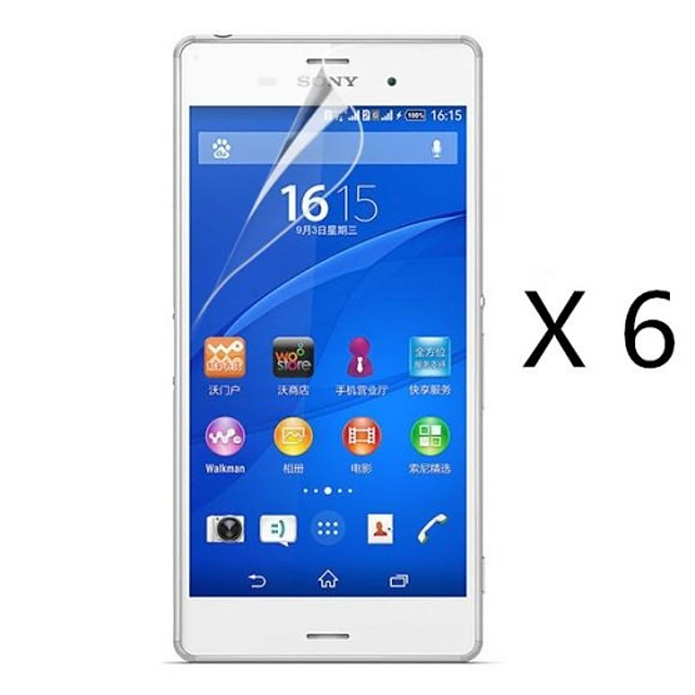 High Definition Screen Protector for Sony Xperia Z3 L55T (6 pcs)