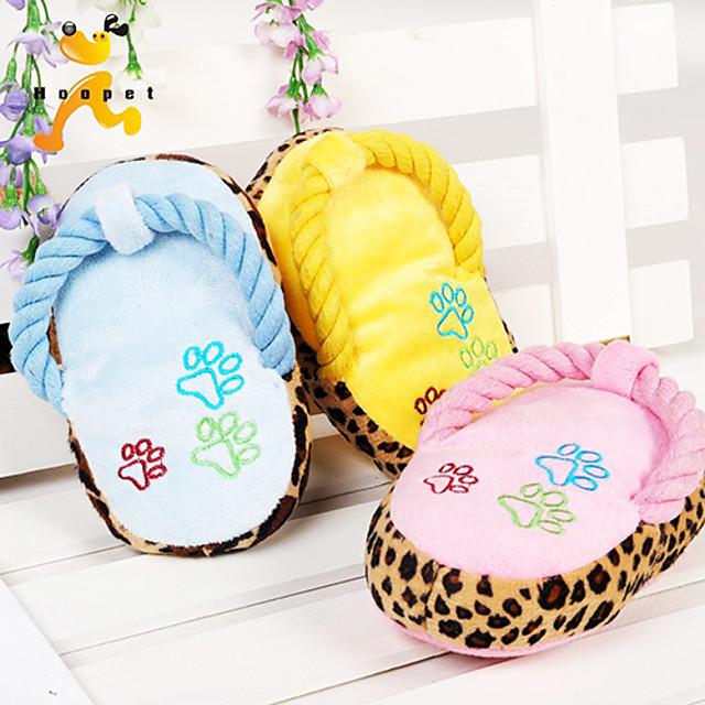 Forma papuc scurt de pluș animale de companie intonație jucărie de culoare asortate
