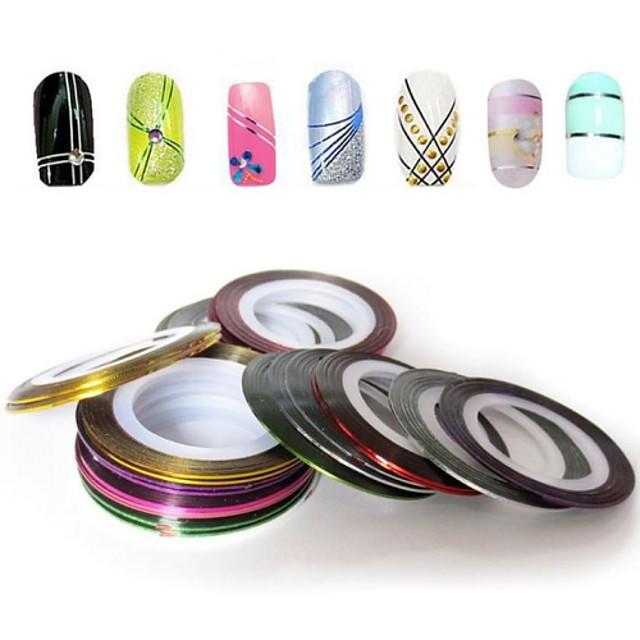 12 pcs Unghii foarfece bandă striping nail art pedichiura si manichiura Zilnic Abstract / Modă / Foil Stripping Tape