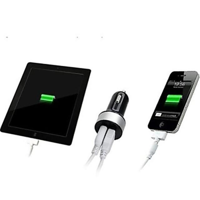 Încărcător de Mașină Încărcător USB Multi Porturi 2 Porturi USB 2.1 A / 1 A DC 12V-24V pentru