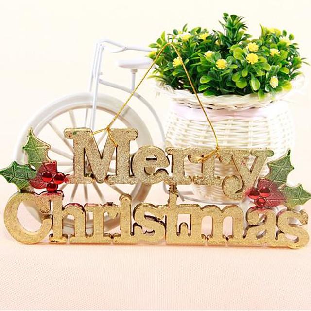 engleză card de litere Crăciun fericit cu copac Hang frânghie magazin agățat ușă decor agățat