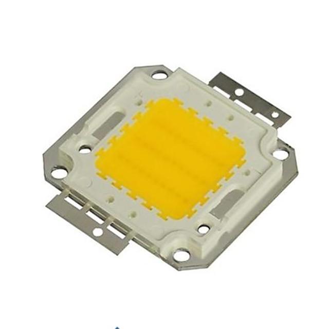 zdm 1pc diy 30w 2800-3500lm varmvit 3000-3500k lätt integrerad leddmodul (dc33-35v 0.8a) gatlampa för projektion av lätt guldtrådsvetsning av kopparhållare