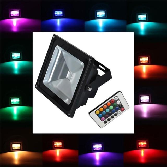 20 W Proiectoare LED 350-450 lm 1 LED-uri de margele LED Putere Mare Telecomandă RGB 85-265 V