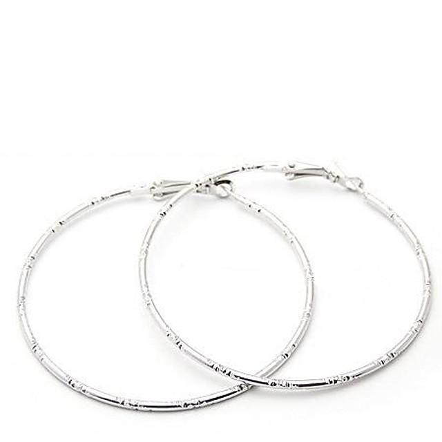 Pentru femei Cercei Rotunzi Machete Ieftin femei Personalizat Simplu stil minimalist cercei Bijuterii Auriu / Argintiu Pentru Petrecere Zilnic Casual Sport