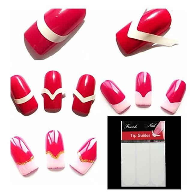 540pcs Unelte pentru unghii Pentru Unghie Unghie deget picior Stil Minimalist nail art pedichiura si manichiura Simplu / Clasic Zilnic