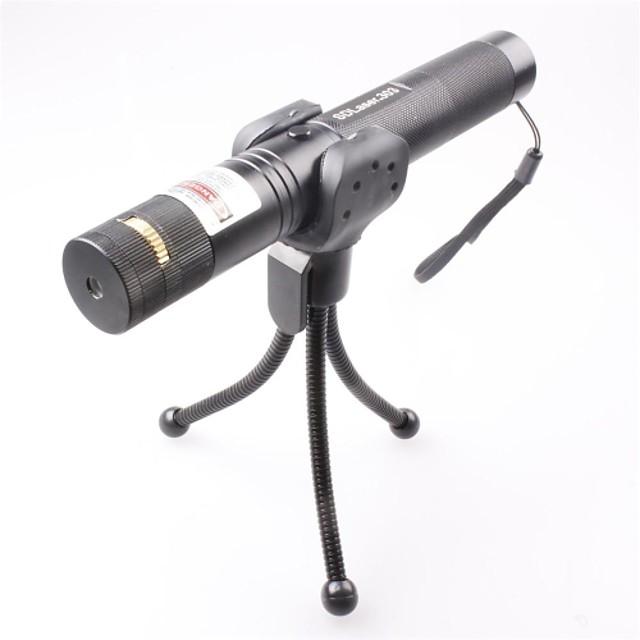 LT-0673 Lockable Muti-image  Adjustable  Match Burning  Green Laser Pointer (2MW,532nm,1x18650,Black)