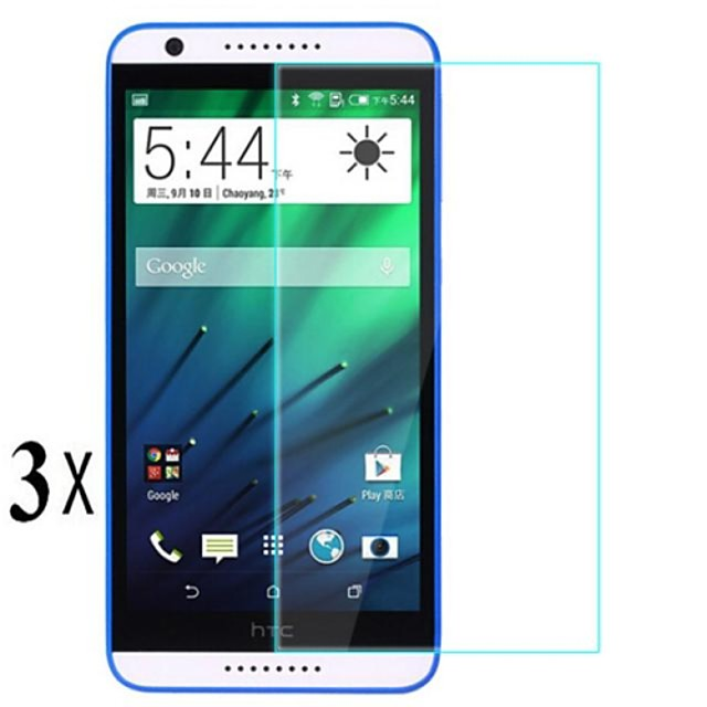 [3-Pack]Professional High Transparency LCD Crystal Clear Screen Protector with Cleaning Cloth for HTC Desire 820 D820u
