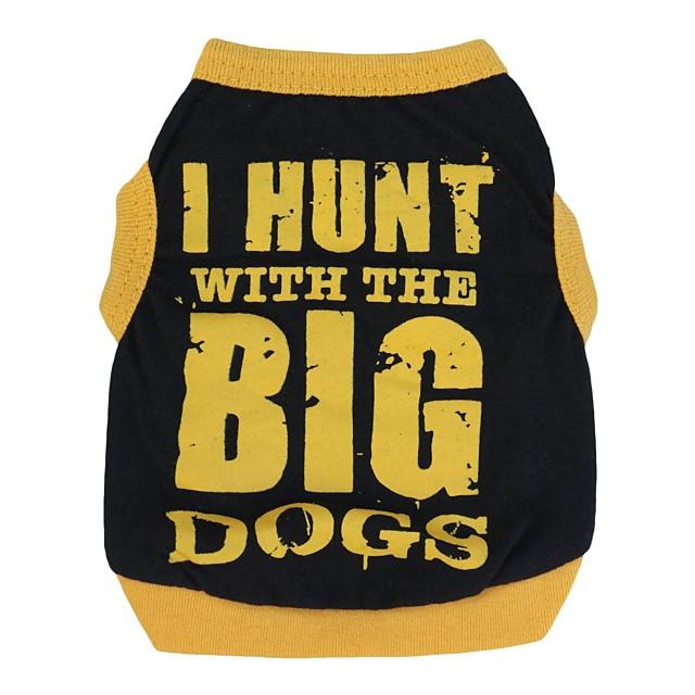 Pisici Câine Tricou Îmbrăcăminte Câini Respirabil Negru / portocaliu Negru / Galben Costume Bumbac Literă & Număr Casul / Zilnic XS S M L