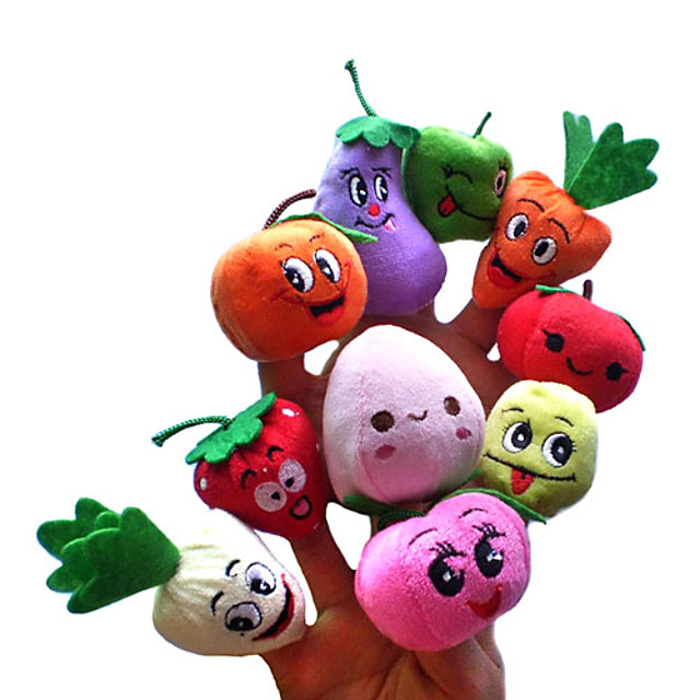 Fruct Fata zambitoare Păpuși de Degete Păpuși Drăguț Novelty Încântător Desen animat textil Pluș Fete Jucarii Cadou 10 pcs