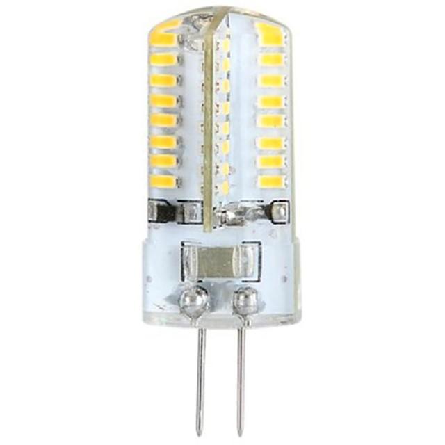 YWXLIGHT® 1 buc 3 W Becuri LED Bi-pin 300 lm G4 T 64 LED-uri de margele SMD 3014 Alb Cald 100-240 V 3 V