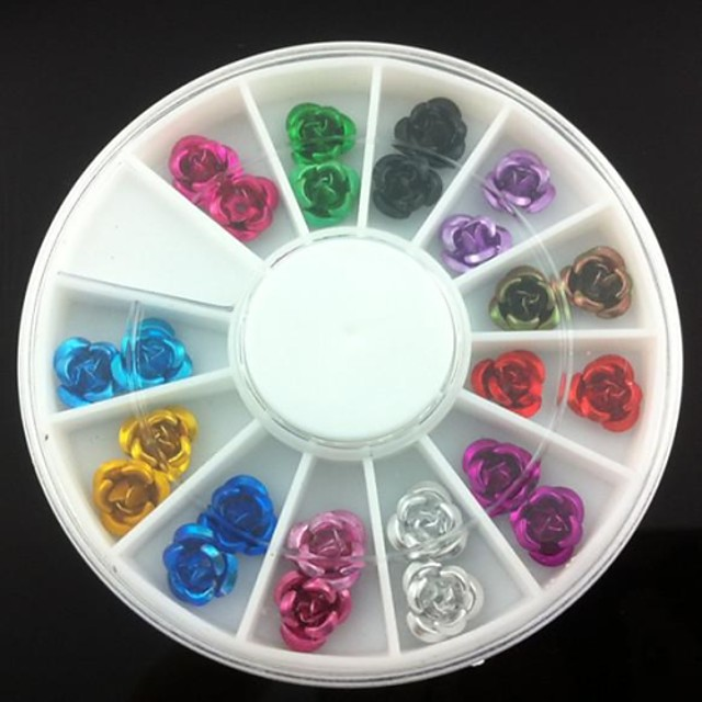 24 pcs Nail Art Kit nail art pedichiura si manichiura Zilnic Floare / Nuntă / Modă / MetalPistol