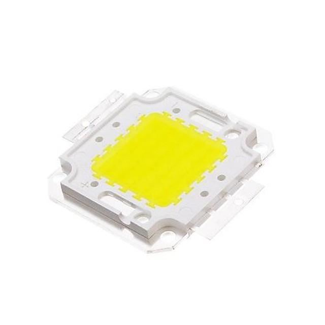 zdm diy 50w 4500-5500lm blanc 6000-6500k lumière intégrée module led (33-35v) réverbère pour projeter la soudure de fil d'or léger de support en cuivre