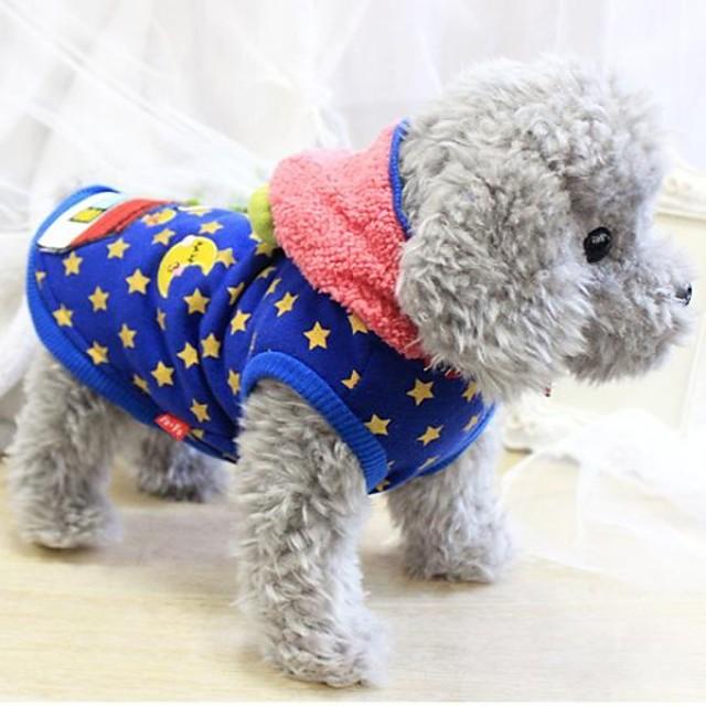 Собака Толстовки Одежда для щенков Зима Одежда для собак Одежда для щенков Одежда Для Собак Синий Розовый Костюм для девочки и мальчика-собаки Терилен Хлопок XS S M L XL