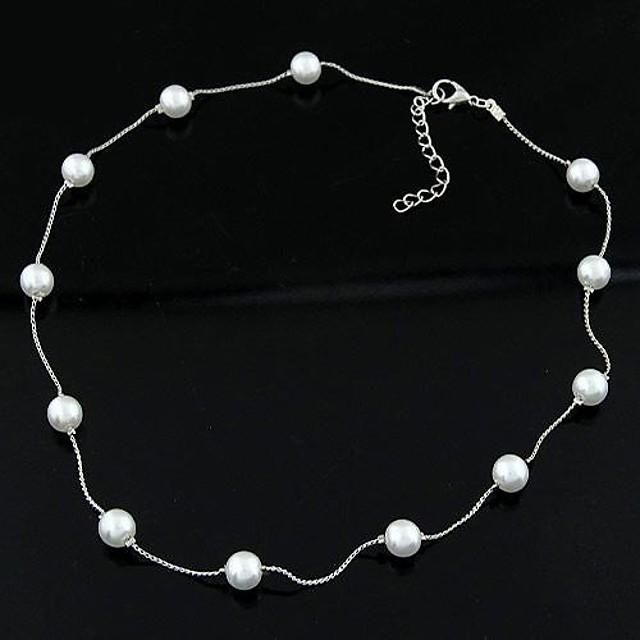 Κολιέ με Πέρλες femei Personalizat Simplu Modă Perle Imitație de Perle Aliaj Coliere Bijuterii Pentru Zilnic