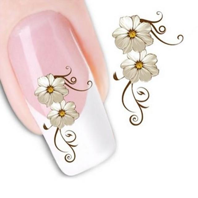 1 Nail Art autocolant Aplicația de transfer de apă Floare machiaj cosmetice Nail Art Design