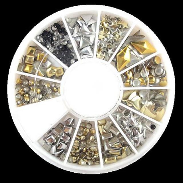 240 pcs Nail Art Kit Ștrasuri nail art pedichiura si manichiura Zilnic Abstract / Punk / Modă / MetalPistol