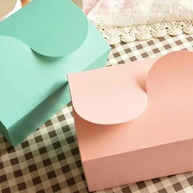 Cute Mini Cake Paper Box(Pink,Green)(1pc)