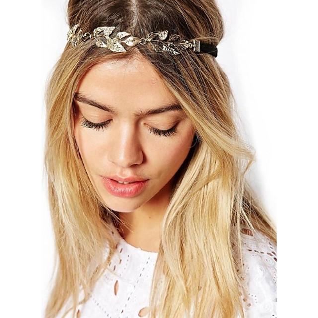 Pentru femei Vintage / Elegant, Placat Auriu / Aliaj Bandană / Cordeluțe / Cordeluțe / Leaf Shape