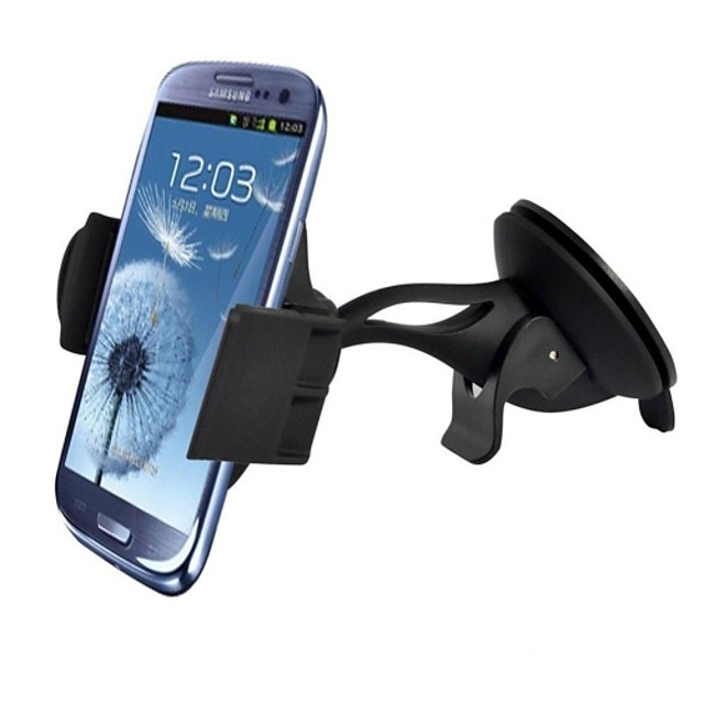 Windshield Dashboard Universal Car Mount Holder for iPhone 6 (4.7)/Plus (5.5)/5S/5C, Samsung Galaxy S5/S4/S3/Note 4/3