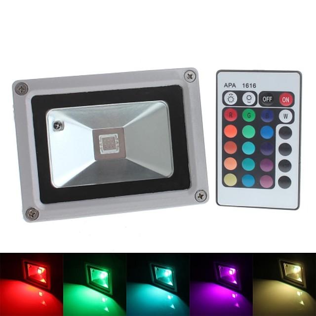 1 buc 10 W Culoarea becului crescând 800 lm 1 LED-uri de margele LED Integrat Rezistent la apă Telecomandă Decorativ RGB 85-265 V