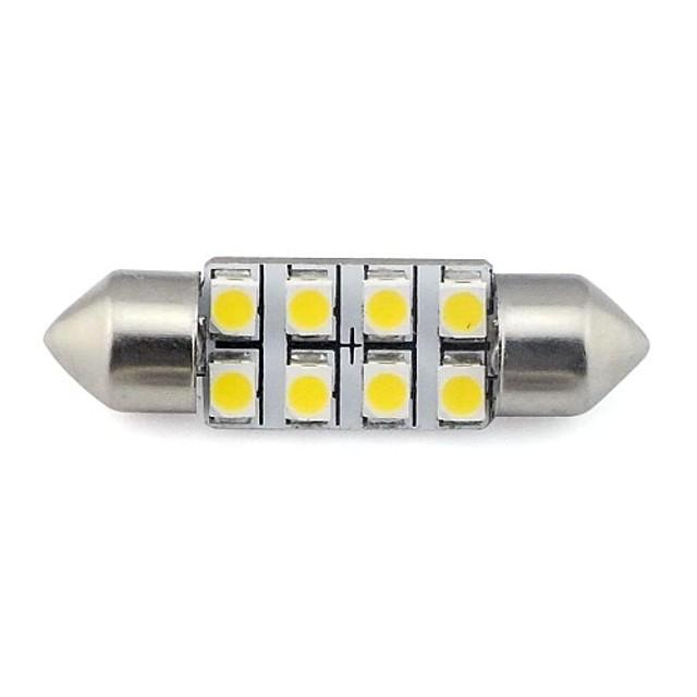 2 piese 36mm 8x3528 smd 1.3w 60lm autoturism auto festoon lumina pentru citirea plăcuței de înmatriculare lampă alb cald alb dc 12v