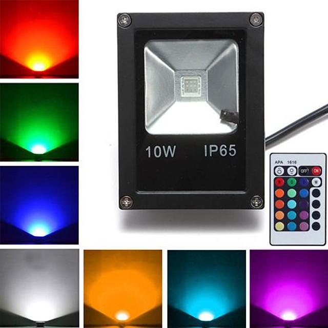 1 buc 10 W 800 lm 1 LED-uri de margele LED Putere Mare Telecomandă RGB 85-265 V