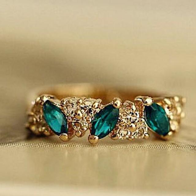 Band Ring Smarald sintetic Marchiză Argintiu Auriu Aliaj Iubire femei Modă / Pentru femei