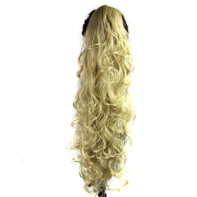 Clasic Buclat Coadă de cal Calitate superioară Sintetic Fir de păr Extensie de păr Zilnic