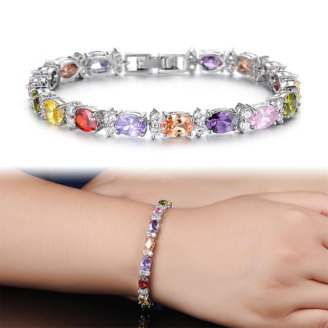 Pentru femei Diamant sintetic High Crystal Brățări cu Lanț & Legături Brățări cu Talismane Bratari de tenis femei Zirconiu Bijuterii brățară Pentru Cadouri de Crăciun Nuntă Petrecere Zilnic Casual