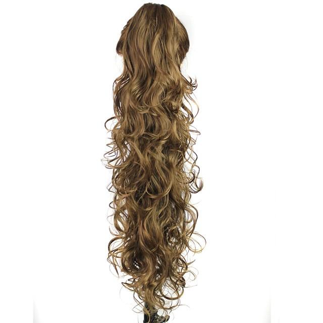 Coadă de cal Păr Sintetic Fir de păr Extensie de păr Buclat / Kinky Curly Zilnic / Maro