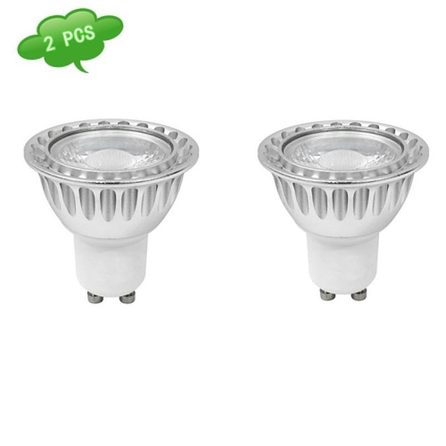 Spoturi LED 630 lm GU10 MR16 1 LED-uri de margele COB Intensitate Luminoasă Reglabilă Alb Rece 220-240 V / 2 bc / RoHs