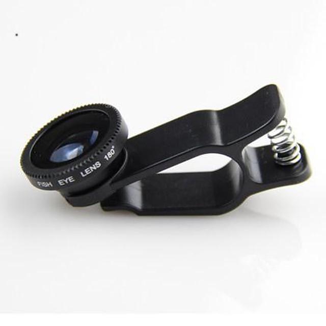 klw 3 în 1 larg obiectiv cu unghi / obiectiv macro / 180 pește lentilă ochi / kit stabilit pentru iPhone 5/6 / iPad și alții