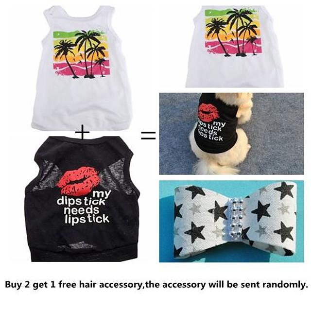 Katze Hund T-shirt Hundekleidung Buchstabe & Nummer Regenbogen Baumwolle Kostüm Für Sommer Cosplay Hochzeit