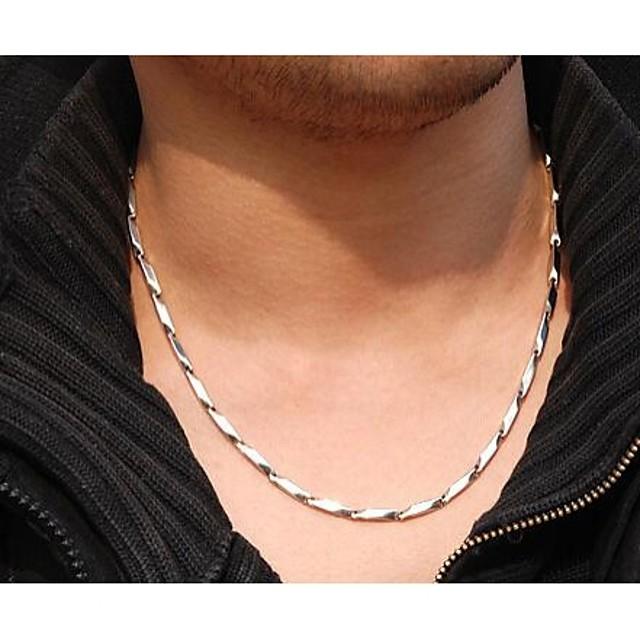 Lănțișoare femei Teak Oțel titan Argintiu Coliere Bijuterii 1 buc Pentru Nuntă Petrecere Zilnic Casual