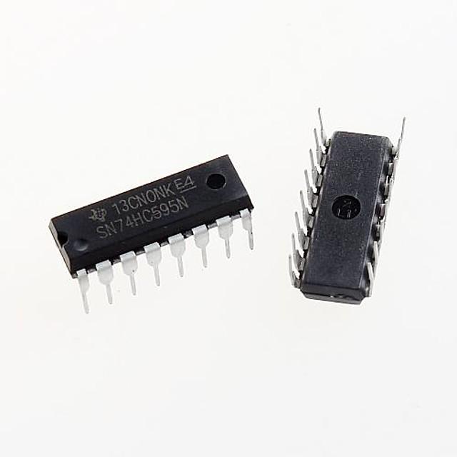 74HC595 dip-16 74hc595n sn74hc595n 8 bits de registro de desplazamiento de chips ic dip-16 (5pcs)