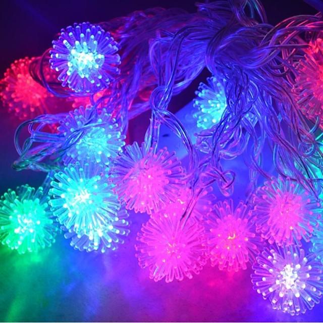 jiawen® 4m 20leds RGB lumini șir bulgăre de zăpadă a condus lumina șir de Crăciun pentru decorare (ac 110-220V)
