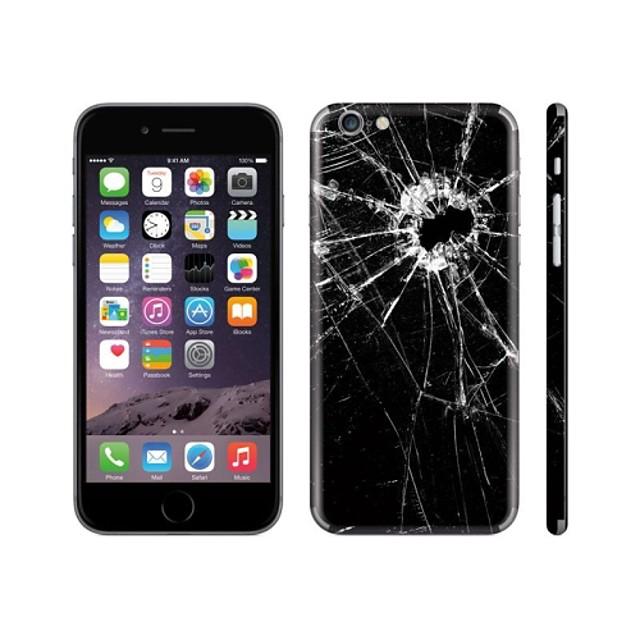 skinat Handys Aufkleber für iphone 6 (ausblenden Logo) zurück Abziehbild-Aufkleber Papier Glas gebrochen Handy Aufkleber