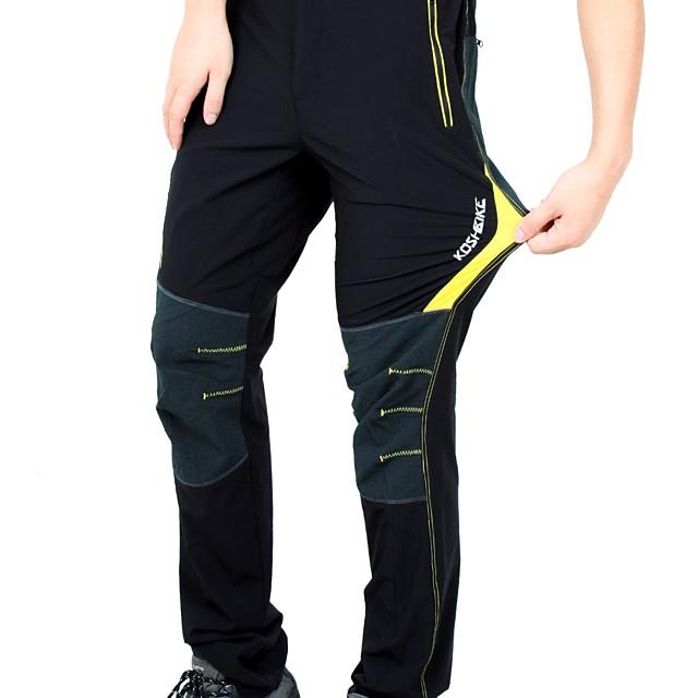 KORAMAN Homme Pantalons de Cyclisme Vélo Pantalon / Surpantalon / Bas Respirable, Séchage rapide Couleur Pleine Spandex Noir / Rouge / noir / vert / Noir / jaune. Cyclisme sur Route Confortable